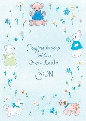 FR1526   Congratulations Baby Card / Son