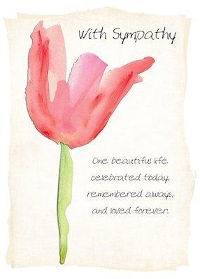 AFH041  Sympathy Card