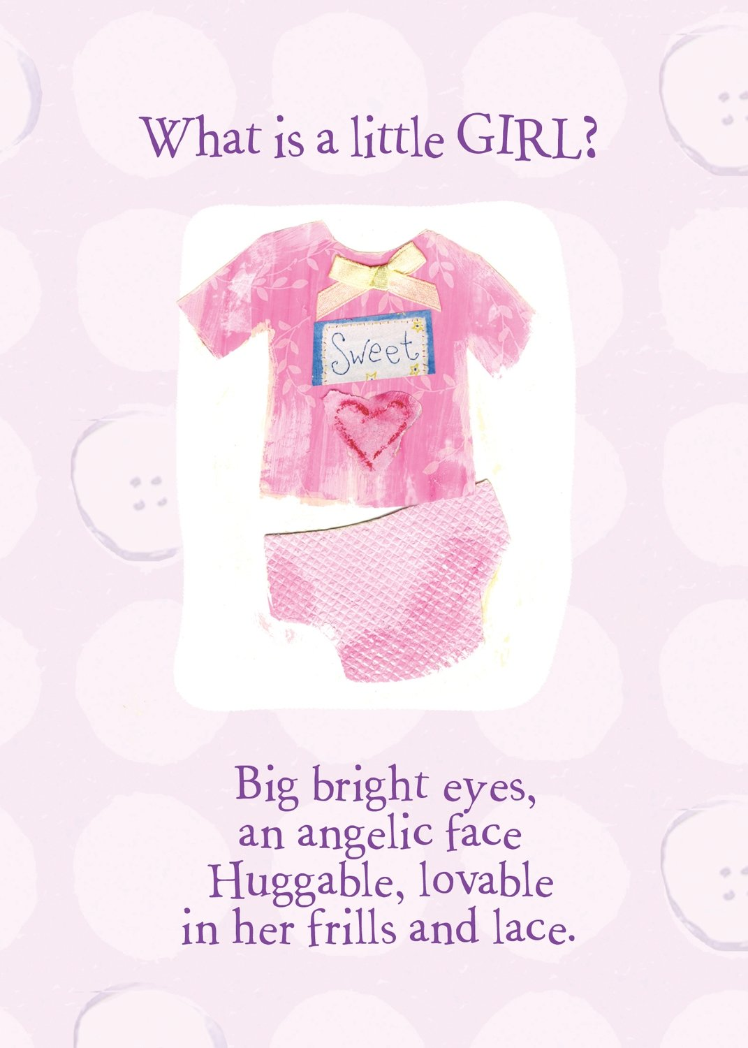 AFH183   Baby Girl Card