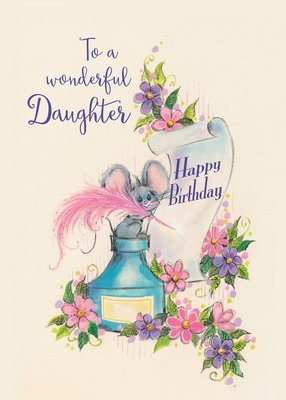 FR0308   Family Birthday Card / Daughter