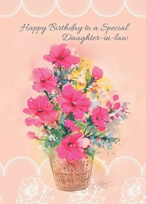 FR0309   Family Birthday Card / Daughter-In-Law
