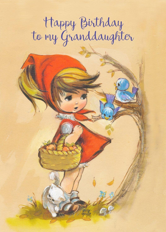 FR0315   Family Birthday Card / Granddaughter
