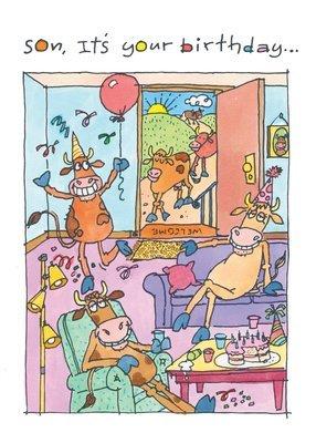 FR0325   Family Birthday Card / Son