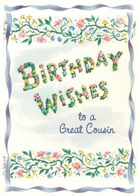 FR0333   Family Birthday Card / Cousin
