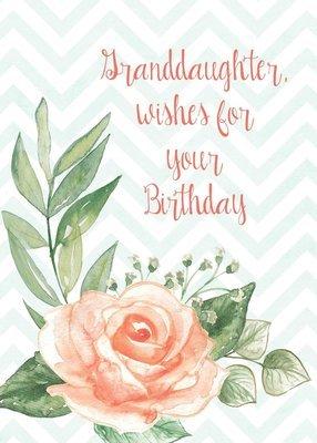 FR0274   Family Birthday Card / Granddaughter