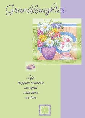 FR0906   Family Birthday Card / Granddaughter