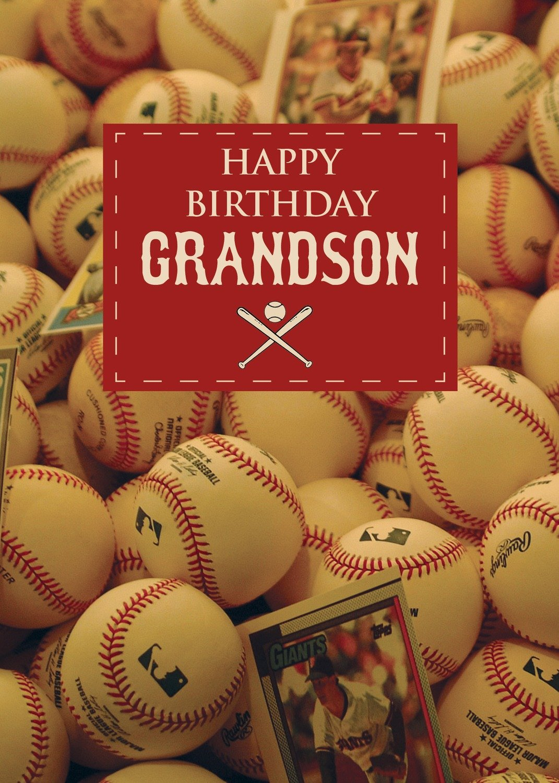 FR0297  Family Birthday Card / Grandson