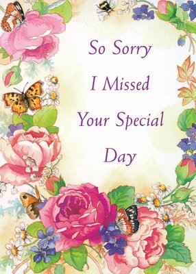 FR8575   Belated Birthday Card