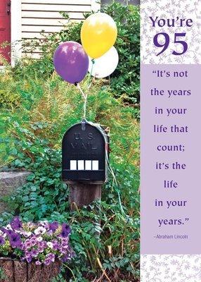 FR8404   Milestone Birthday Card / 95