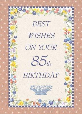 FR8459  Milestone Birthday Card / 85