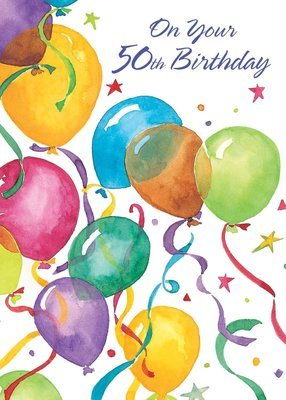 FR8458  Milestone Birthday Card / 50