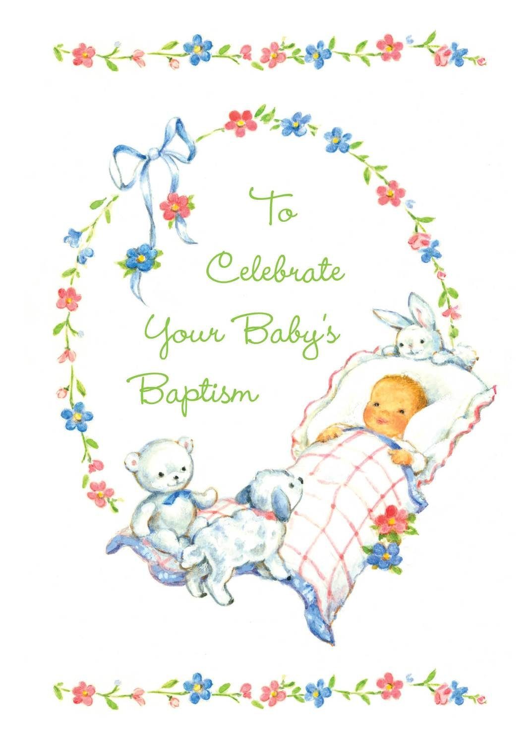 FR7002  Religious Event Card / Baby Baptism