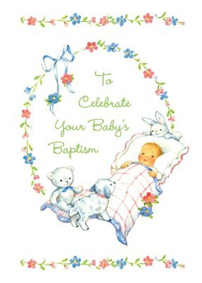 FR7002  Religious Event Card / Baby Baptism