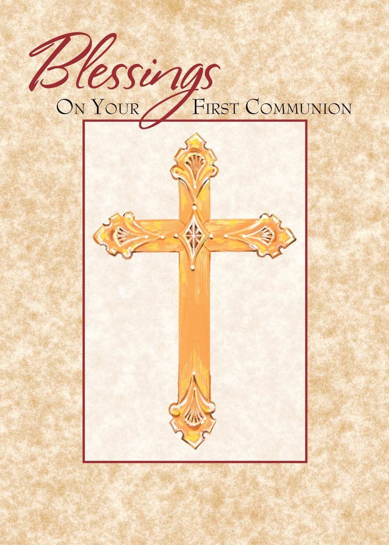 FR7005  Religious Event Card / Communion