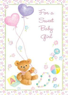 FR1530   Congratulations Baby Card / Girl