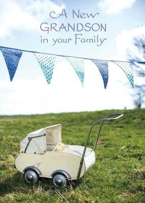 FR1528   Congratulations Baby Card / Grandson