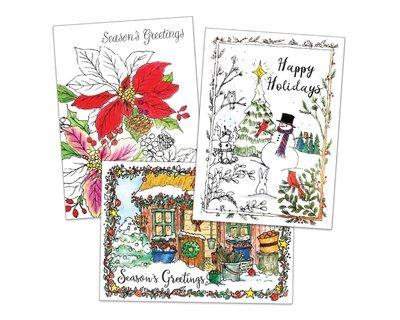 FRG17220  Coloring Card Pack / Holiday