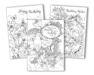 FRG17221  Coloring Card Pack
