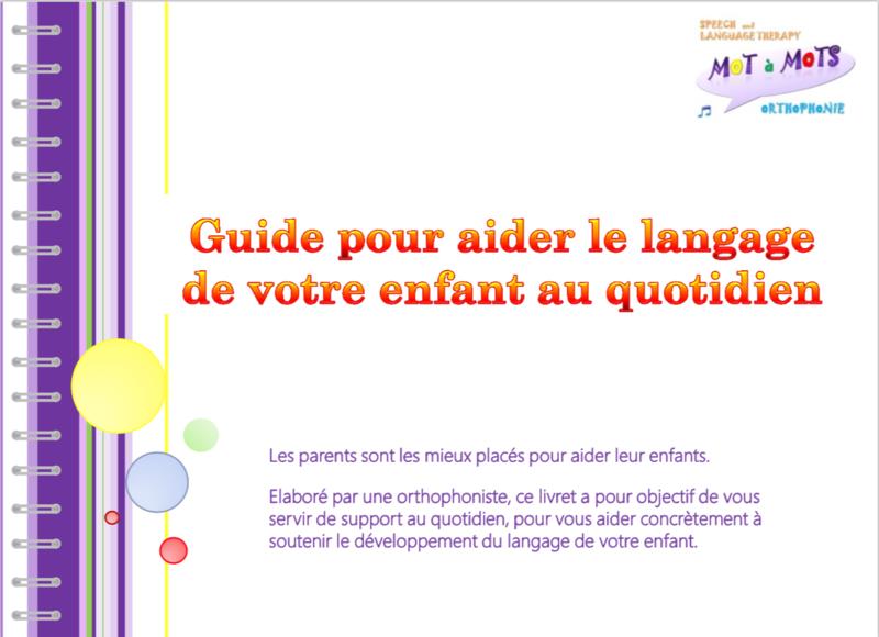 Guide pour les parents: soutenir le langage de votre enfant