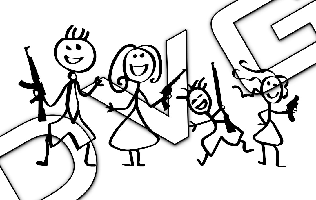 Stick Figure 2A Family