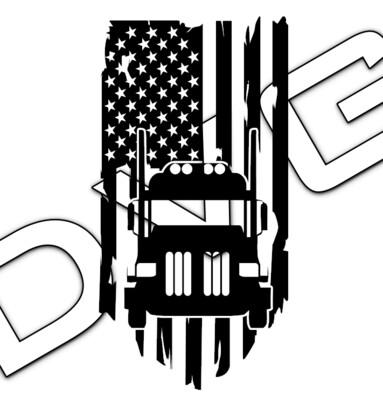 Big Rig Distressed American Flag