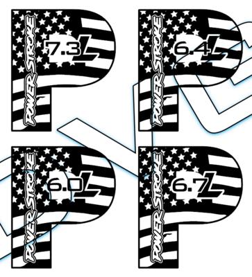 Powerstroke P Flag