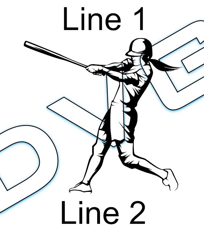 Softball Player Swinging