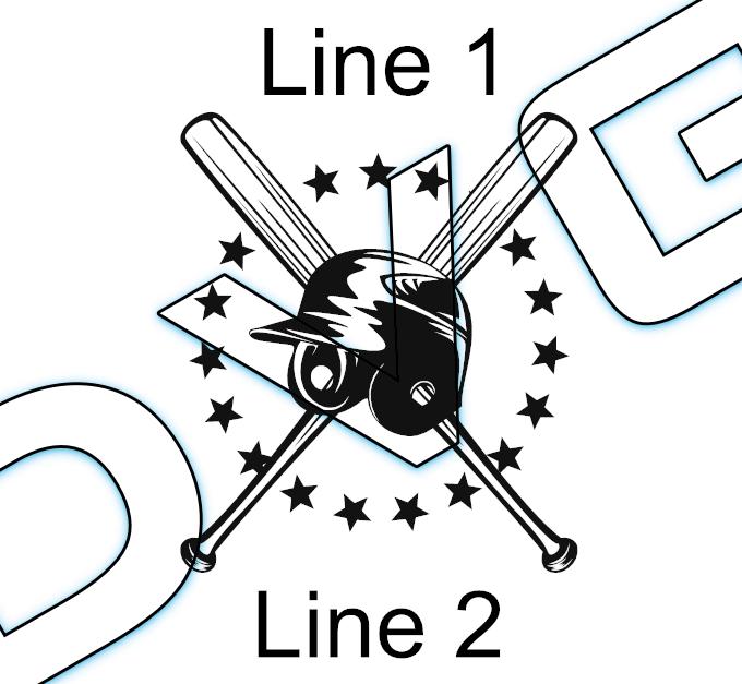 Batter Helmet/Bats Stars