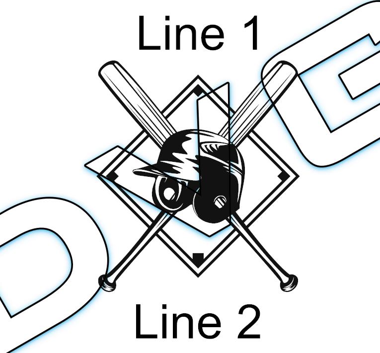 Batter Helmet/Bats Base Line