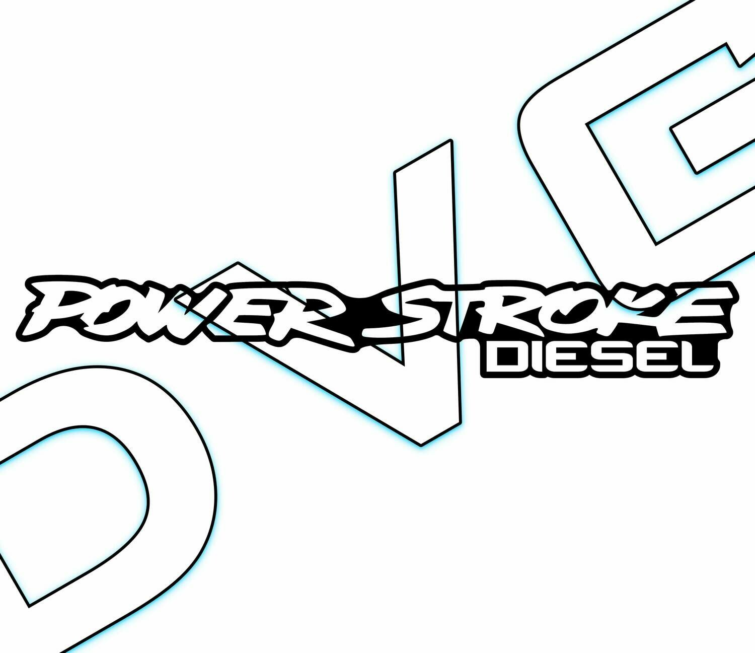 Power Stroke Diesel Badge Decal
