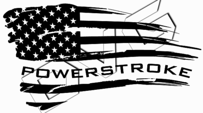Distressed Wavy PowerStroke Flag