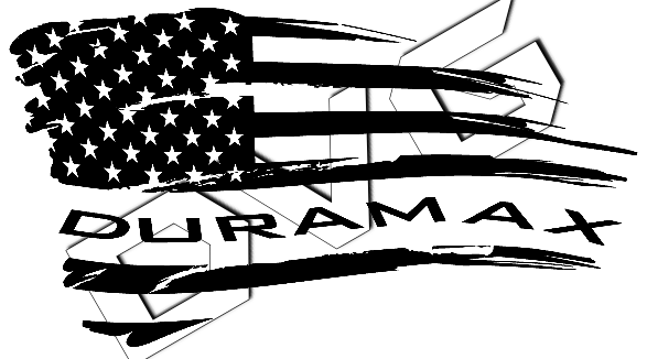 Distressed Wavy Duramax Flag