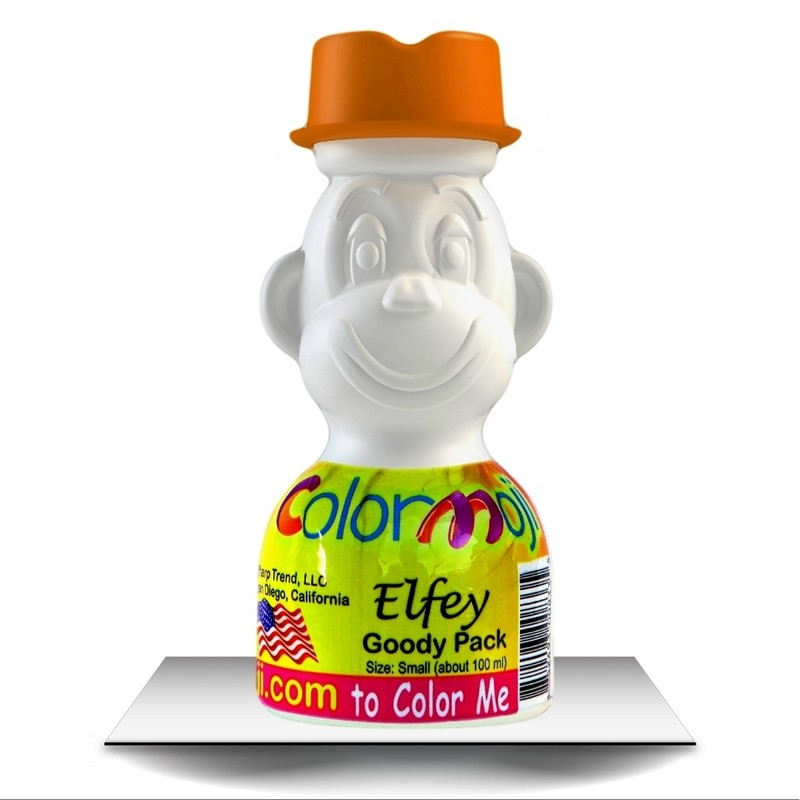 Colormoji Elfey Monkey Goody Pack - Cowboy Hat - Empty or Filled Coloring Model - Small Size