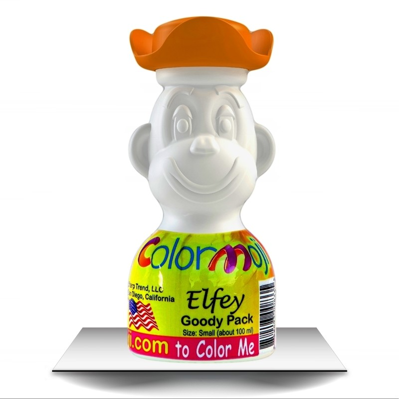 Colormoji Elfey Monkey Goody Pack - Pirate Hat - Empty or Filled Coloring Model - Small Size