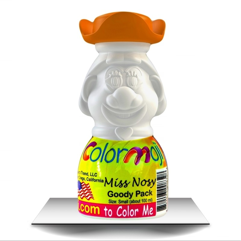Colormoji Miss Nosy Goody Pack - Pirate Hat - Empty or Filled Coloring Model - Small Size