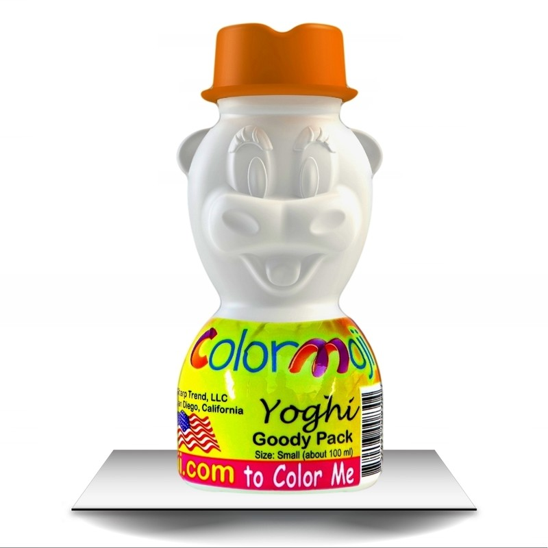 Colormoji Yoghi Cow Goody Pack - Cowboy Hat - Empty or Filled Coloring Model - Small Size
