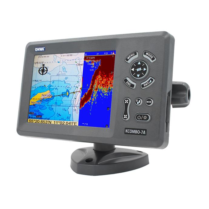 "ONWA 7"" GPS Chartplotter w/ Fishfinder & Class B AIS Transponder - KCombo-7A"