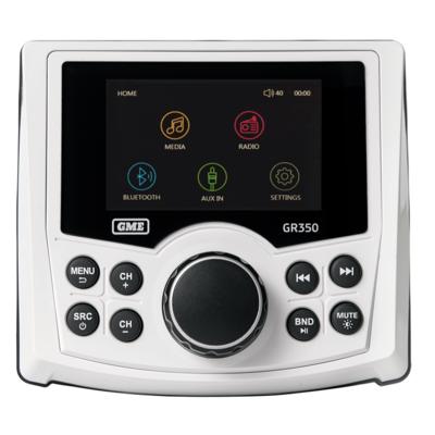GME GR350BTW AM/FM Marine Stereo w/ Bluetooth & USB/AUX Input - White