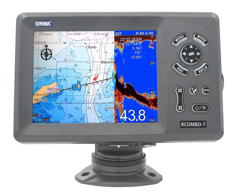 """ONWA 7"""" GPS Chartplotter w/ Fishfinder - KCombo-7"""