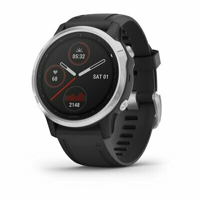 Garmin Fenix 6S - Silver w/ Black Band