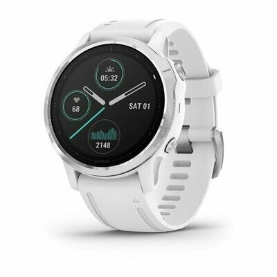 Garmin Fenix 6S - Silver w/ White Band