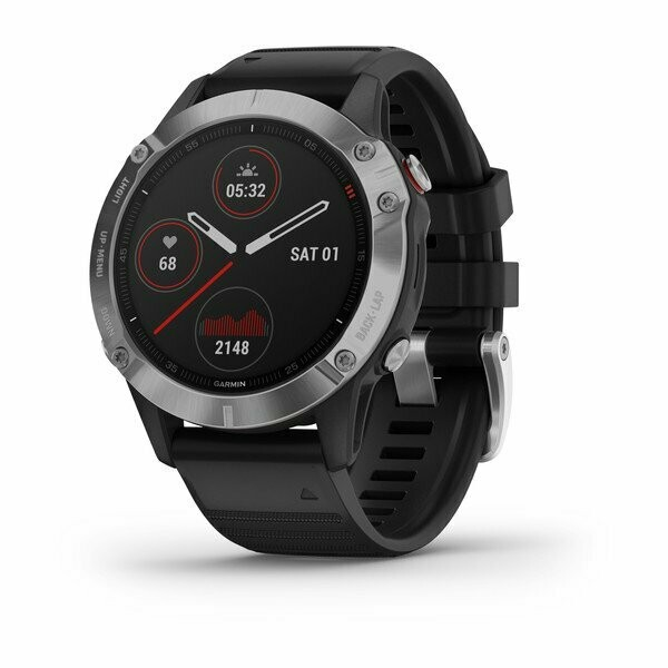 Garmin Fenix 6 - Silver w/ Black Band