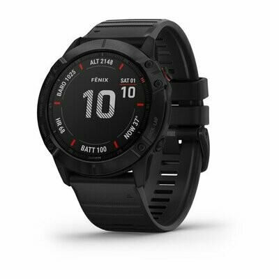 Garmin Fenix 6X Pro - Black w/ Black Band