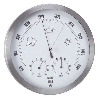 ANVI 29.0367 3-in-1 Barometer - Stainless Steel - Low Altitude
