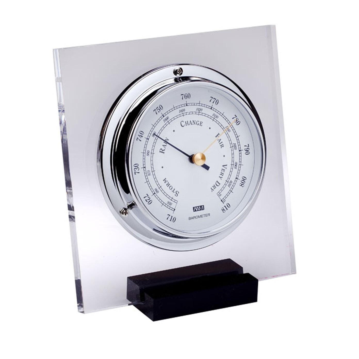 ANVI 30.0431 Barometer - Chrome Plexiglas - Low Altitude