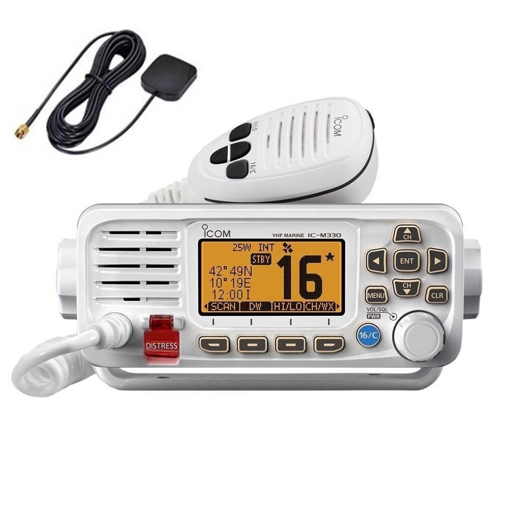 Icom M330G 25 Watt Marine VHF Radio with GPS - White