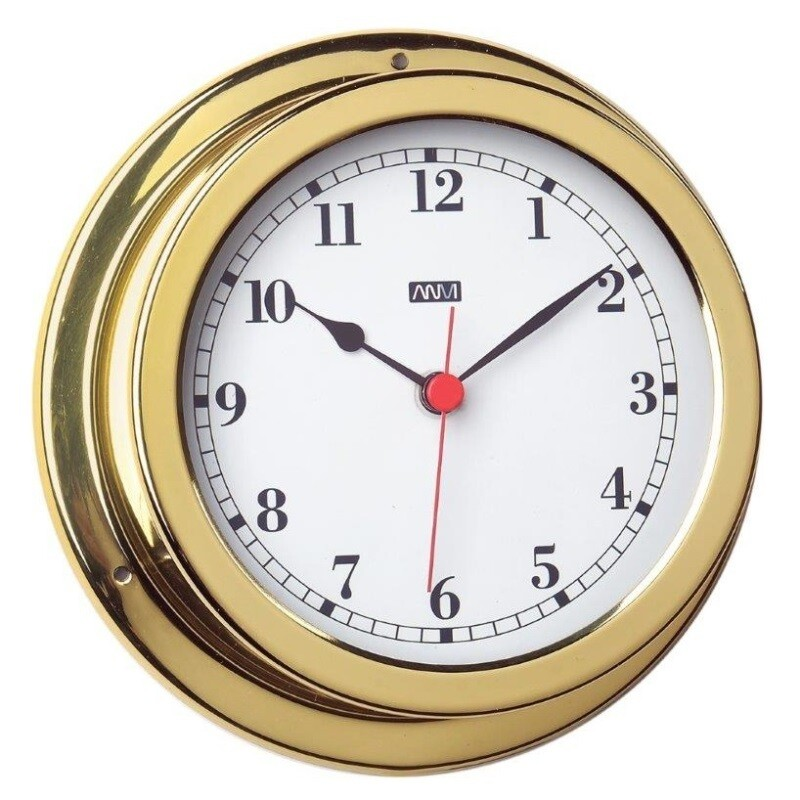 ANVI 32.0386 Clock – Polished Brass & Lacquered