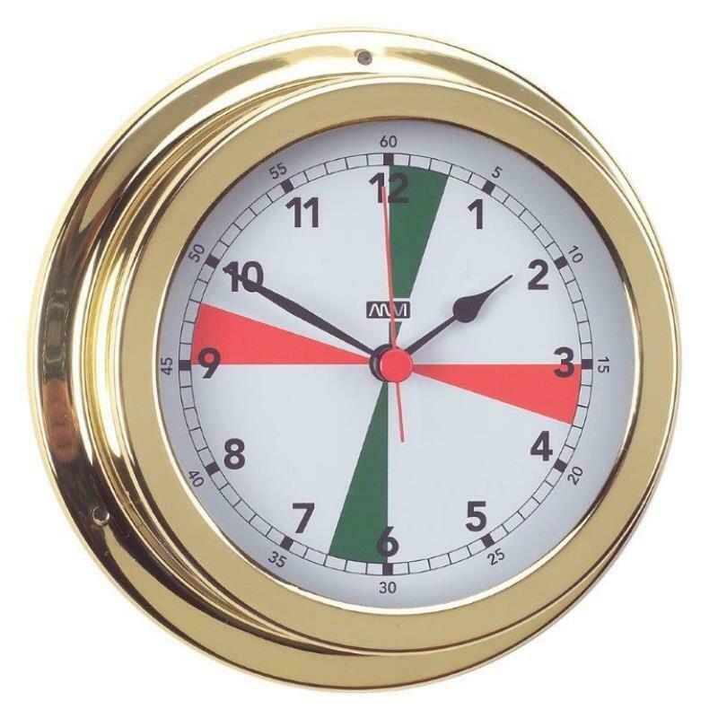 ANVI 32.0405 Radio Silence Clock – Polished Brass & Lacquered