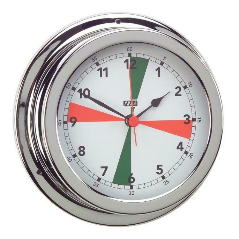 ​ANVI 32.0505 Radio Silence Clock – Polished Brass & Chromed