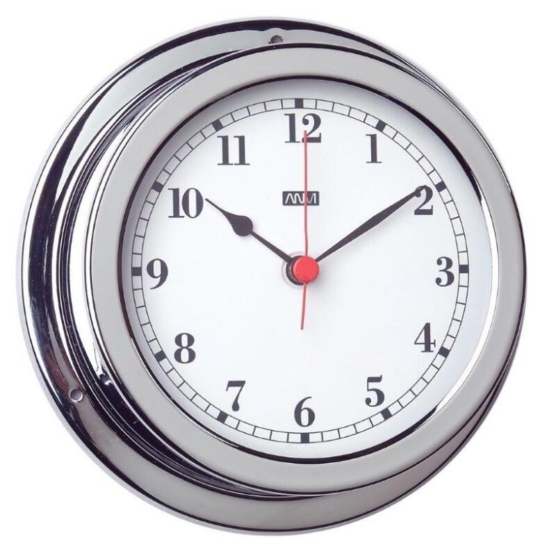 ANVI 32.0471 Clock – Polished Brass & Chromed
